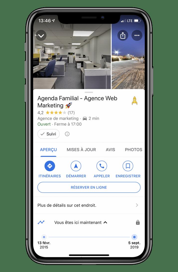 Service de gestion des avis Google