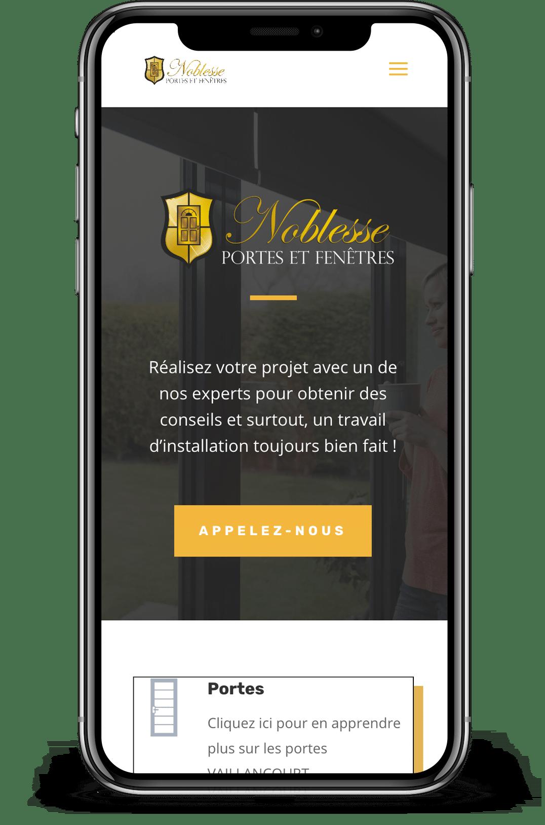 création de site web mobile saint-jean-sur-richeleu page d'acceuil